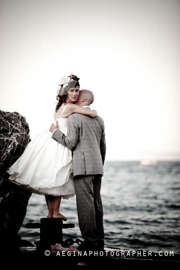 Wedding Album of Joanna & Ilios at Aegina Island Greece