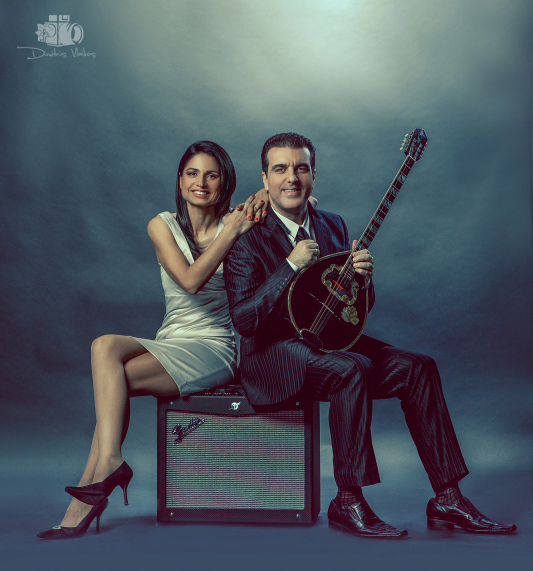 Greek Musicians - Giorgos and Maria CD Cover Photoshoot