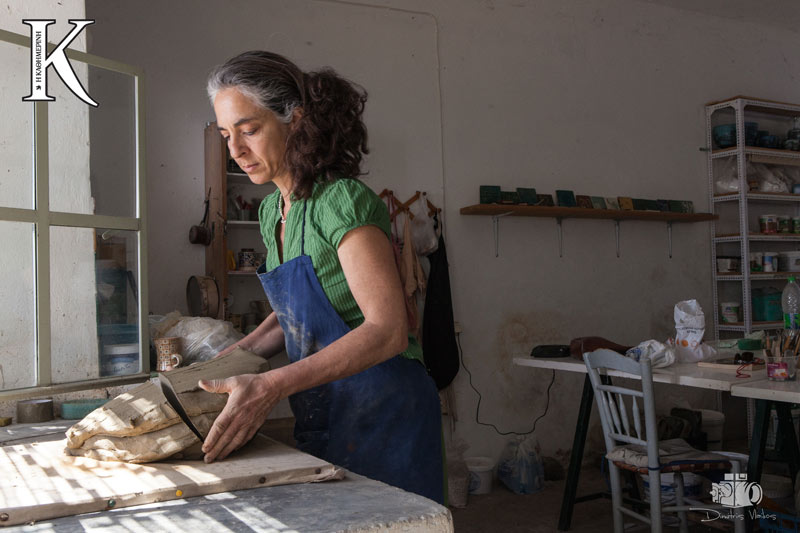 "Greek Ceramist Theodora Chorafa for ""K"" Magazine - Kathimerini"