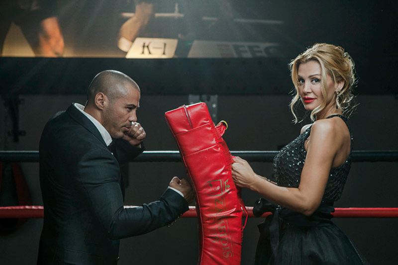 Kick Boxer Mike Zambidis and his Manager Tonia Fouseki for People