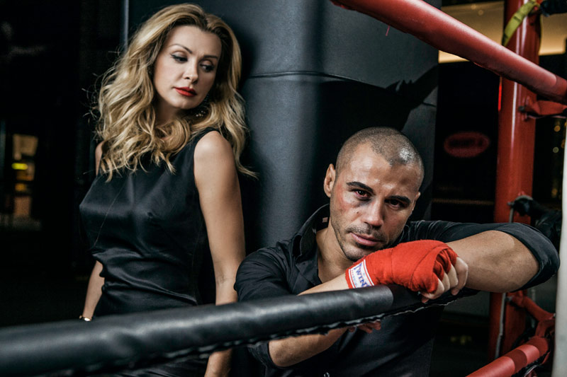 World Champion Mike Zambidis and his Manager Tonia Fouseki for People Mag