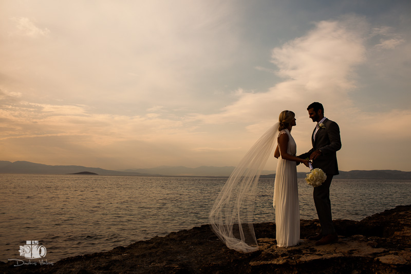 wedding photographer aegina for sara and dimitris