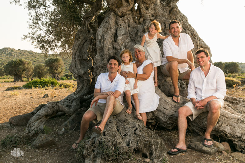 Family photo shoot at the Ancient olive grove in Aegina island Greece