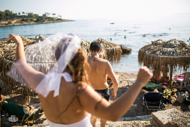 beach wedding party in Athens Greece
