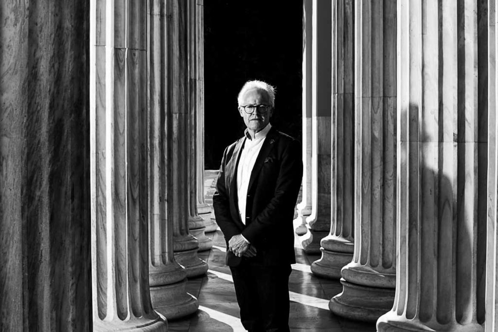 Anthony Howard portrait photoshoot in Athens for the Socratic Leader Academy project.  Client: Confidere Group Australia